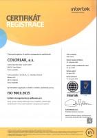 ISO-9001-2015-COLORLAK-2020-CZ